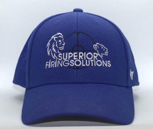 superior firing solutions baseball cap in navy blue