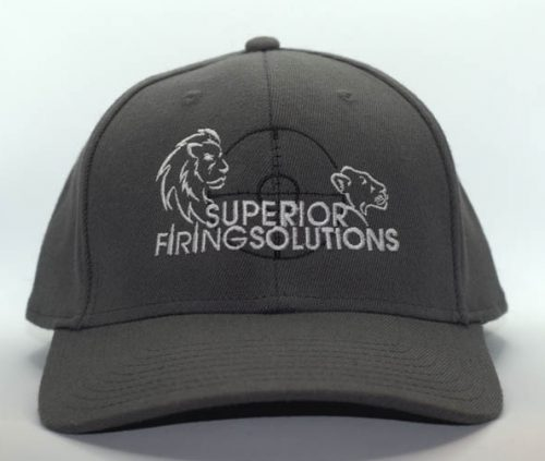superior firing solutions baseball cap in charcoal gray