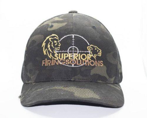 superior firing solutions flexfit cap in camo