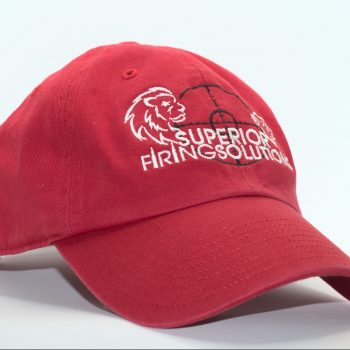 superior firing solutions twill cap in red - front view