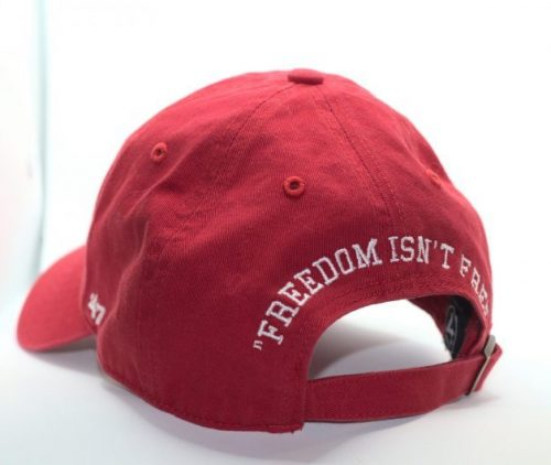 superior firing solutions twill cap in red - back view