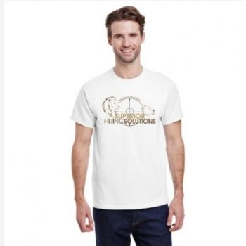 Superior Firing Solutions short sleeve tee in white